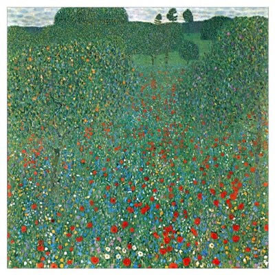 Gustav Klimt Poppy Field Canvas Art