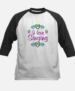 I Love Singing Kids Baseball Jersey