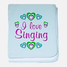 I Love Singing baby blanket