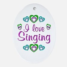 I Love Singing Ornament (Oval)