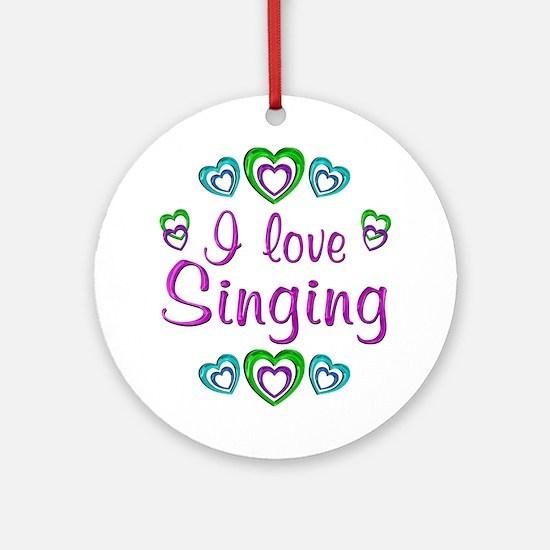 I Love Singing Ornament (Round)