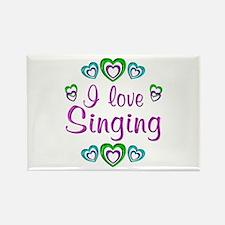 I Love Singing Rectangle Magnet (100 pack)