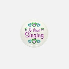 I Love Singing Mini Button (100 pack)