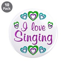 "I Love Singing 3.5"" Button (10 pack)"