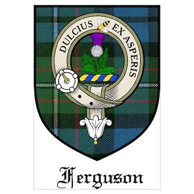 Ferguson Clan Crest Tartan Poster