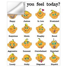 How do you feel today? I Wall Decal