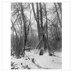 Forest Tipi Poster