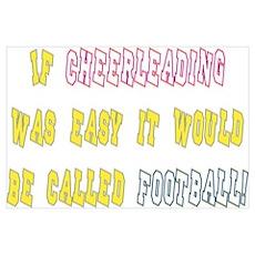 Cheer vs. Football Poster