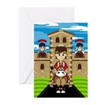 Roman Emperor on Horse Greeting Cards (Pk of 20)
