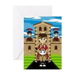 Roman Emperor on Horse Greeting Card