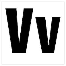 V Helvetica Alphabet Poster