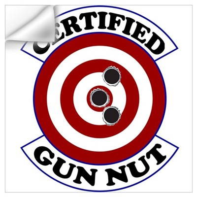 Certified Gun Nut Wall Decal