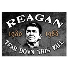 Reagan Tear Down This Wall Framed Print