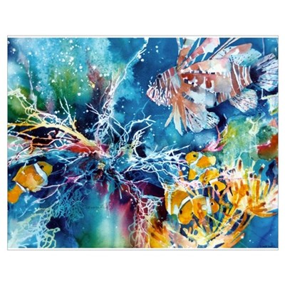 Lionfish and Clownfish Print Poster