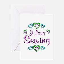 I Love Sewing Greeting Card
