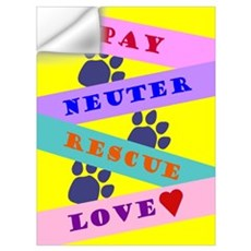 Spay, Neuter, Rescue, Love Wall Decal