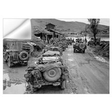 US Jeeps in the Mud During the Korean War Wall Decal