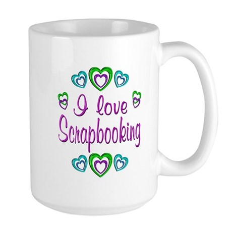 I Love Scrapbooking Large Mug