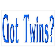 """Baby Got Twins Blue"" Poster"