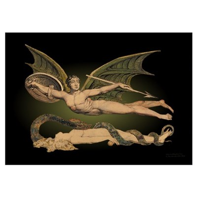 Satan and Eve 15x19 in. Poster