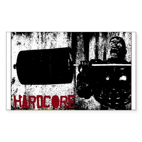 Hardcore Rectangle Sticker