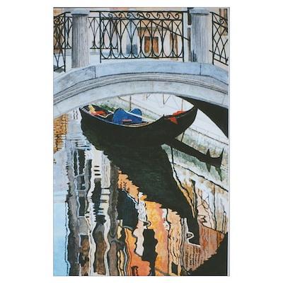 Gondola in Venice by Gordon Joy. Poster