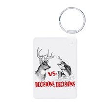 Hunting vs fishing Aluminum Photo Keychain