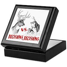 Hunting vs fishing Keepsake Box