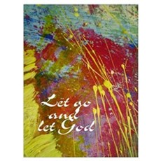 Let Go and Let God Canvas Art