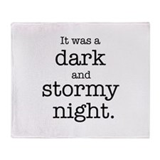Dark and Stormy Night Throw Blanket