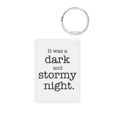 Dark and Stormy Night Aluminum Photo Keychain