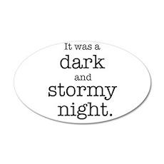 Dark and Stormy Night 22x14 Oval Wall Peel