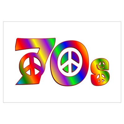 70s PEACE SIGN Poster