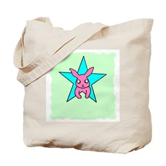 BUNNY IN A STAR Tote Bag
