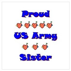 US Army Sister Framed Print