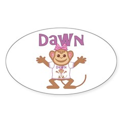 Little Monkey Dawn Decal