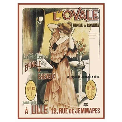 Vintage L'Ovale Canvas Art