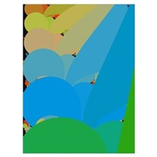 Golf Clubs in Pastel - m Poster