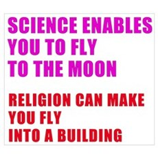 """""""Science...moon"""" Poster"""