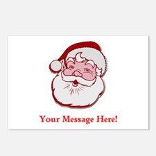 Add Your Own Message To Santa Postcards (Package o