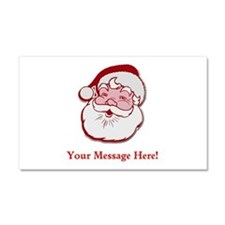 Add Your Own Message To Santa Car Magnet 20 x 12