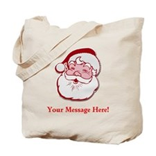 Add Your Own Message To Santa Tote Bag