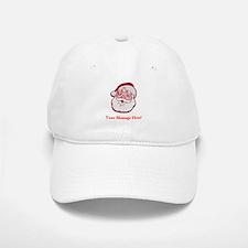 Add Your Own Message To Santa Baseball Baseball Cap