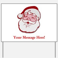 Add Your Own Message To Santa Yard Sign