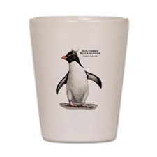 Southern Rockhopper Penguin Shot Glass