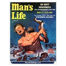 """MAN'S LIFE - """"Weasels Ripped Poster"""