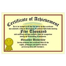 Certificate of Achievement - 5000 Finds! Poster