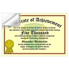 Certificate of Achievement - 5000 Finds! Wall Decal