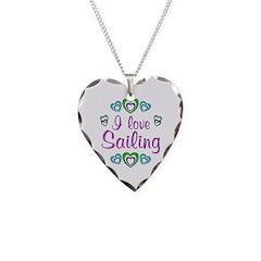I Love Sailing Necklace