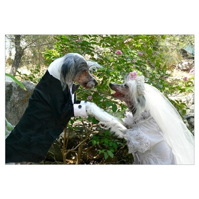 Chinese Crested Wedding Poster